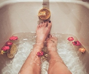 bath, nails, and relax image