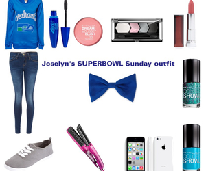 blue, outfit of the day, and seattle seahawks image
