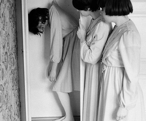 black and white, creepy, and mopheads image
