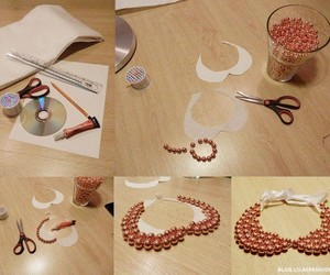 diy, collar, and necklace image