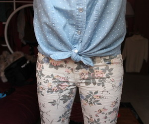 fashion, flowers, and pants image