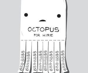 octopus, cute, and anime image
