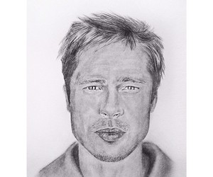 art, brad pitt, and drawing image