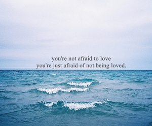 ocean, quote, and typography image