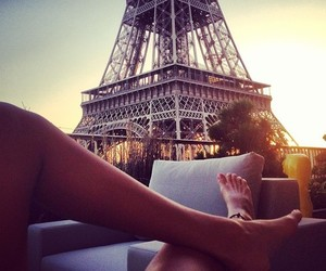 chilling, eiffel tower, and lovely image