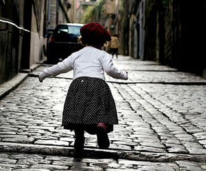 beret, little girl, and cute image
