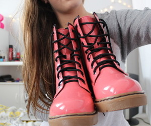 pink, shoes, and tumblr image