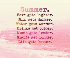 summer, hair, and life image