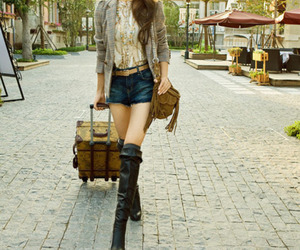belt, boots, and fashion image