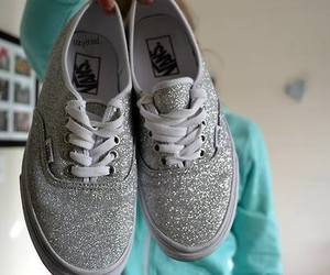 vans, glitter, and shoes image