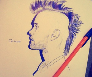 dessin, drawing, and hair image