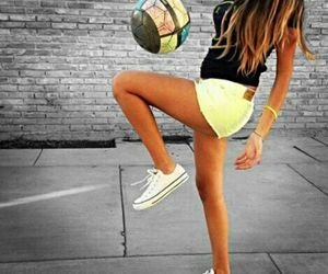 girl and soccer image