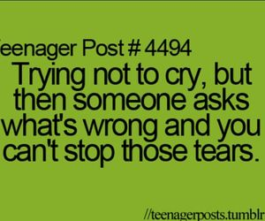 quote, cry, and tears image