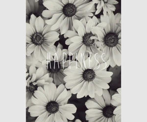 black, flowers, and happiness image