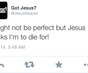 jesus, not perfect, and pick up line image
