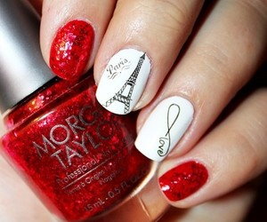 nails, red, and paris image