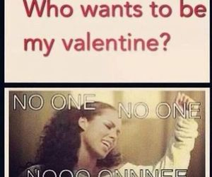 valentine, funny, and no one image