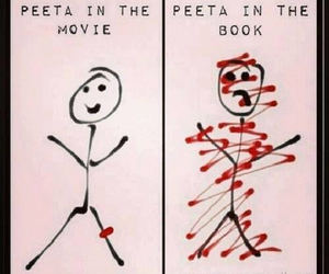 peeta, the hunger games, and book image
