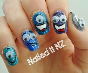monsters, nail art, and nails image