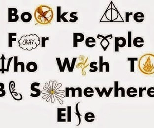 book, harry potter, and divergent image