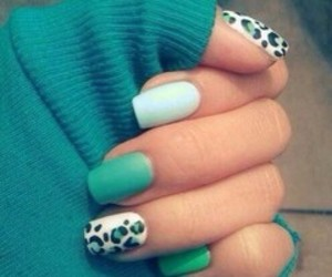 nails, green, and blue image