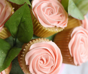 beautiful, cupcakes, and flowers image