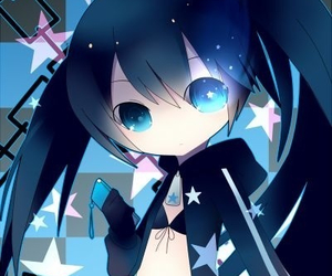 anime, black rock shooter, and blue image