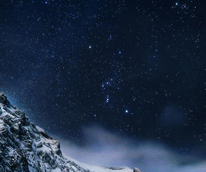 stars, snow, and winter image