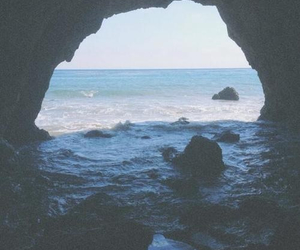 beach, cave, and grunge image