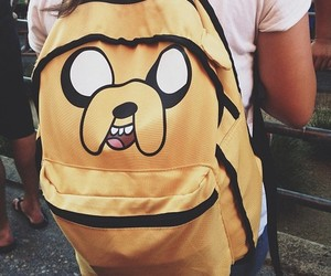 adventure time, backpack, and JAKe image