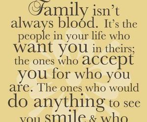 family, love, and not always blood image