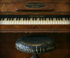 music, piano, and old image