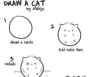 cat, draw, and how image
