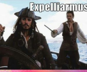 funny, harry potter, and jack sparrow image