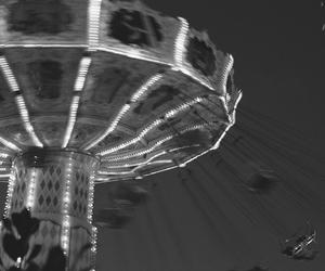 black and white, liseberg, and dark image