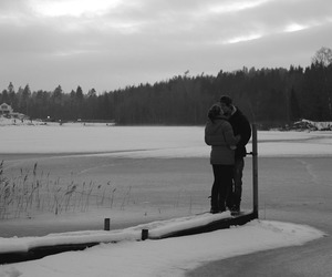 black and white, cute couple, and cute image