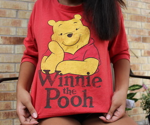 winnie the pooh and red image