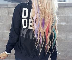 blonde hair, colored hair, and color image