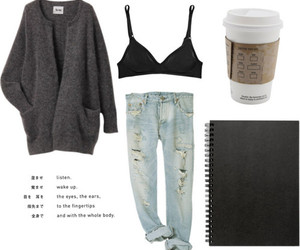 fashion, starbucks, and clothes image