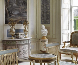 beautiful, french, and living room image