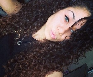 curly hair, girl, and pretty image