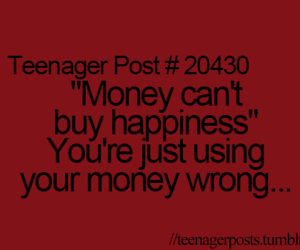 happiness, money, and teens image