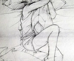 art, bed, and girl image