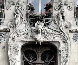 door, Art Nouveau, and architecture image