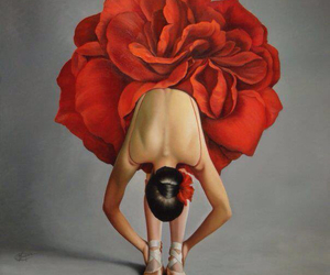 ballet, red, and ballerina image