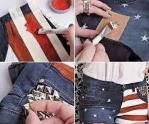 america, clothes, and shorts image