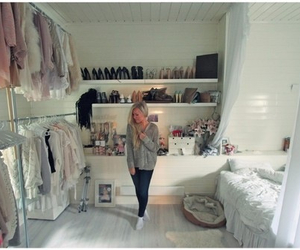 girl, bedroom, and shoes image