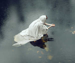 water, woman, and photography image