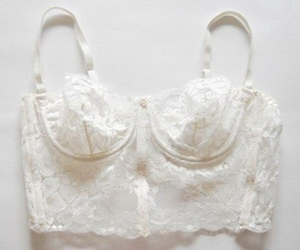 white, bra, and lace image