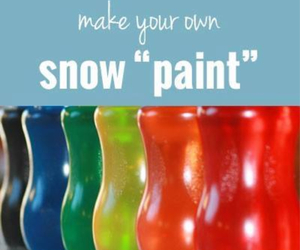 diy, paint, and snow image